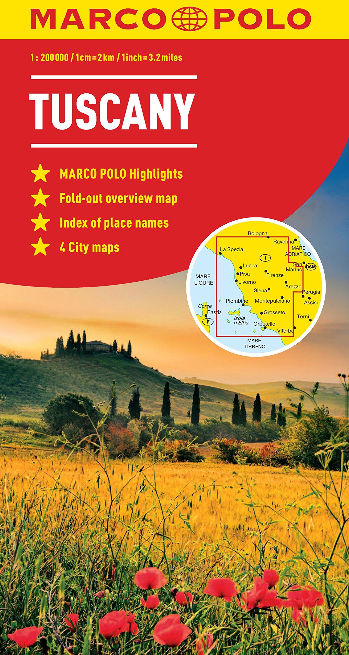 Tuscany Marco Polo Map (Marco Polo Maps): Amazon.co.uk ...