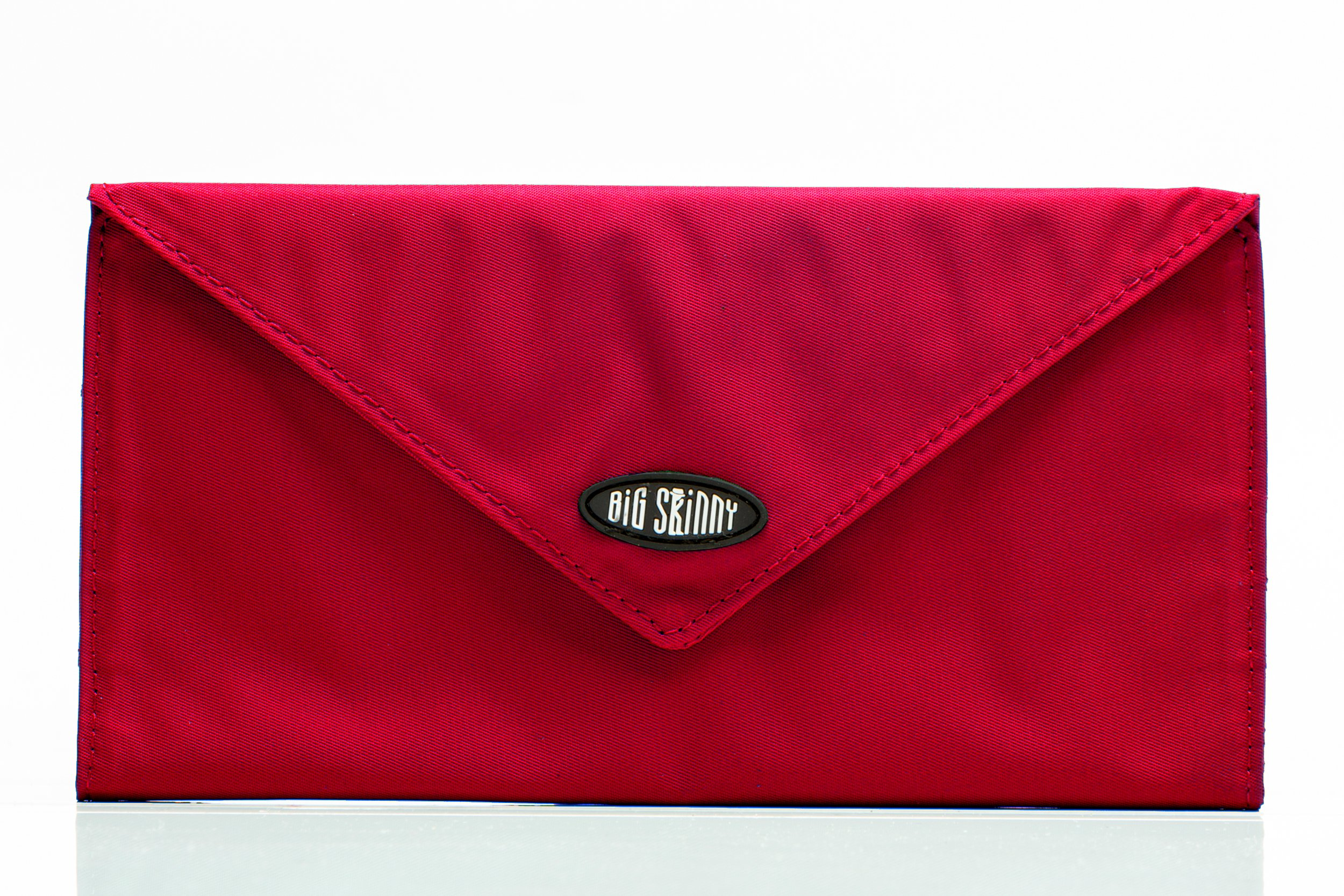 Big Skinny Slimvelope Tri-Fold Checkbook, Holds Up to 40 Cards, Red