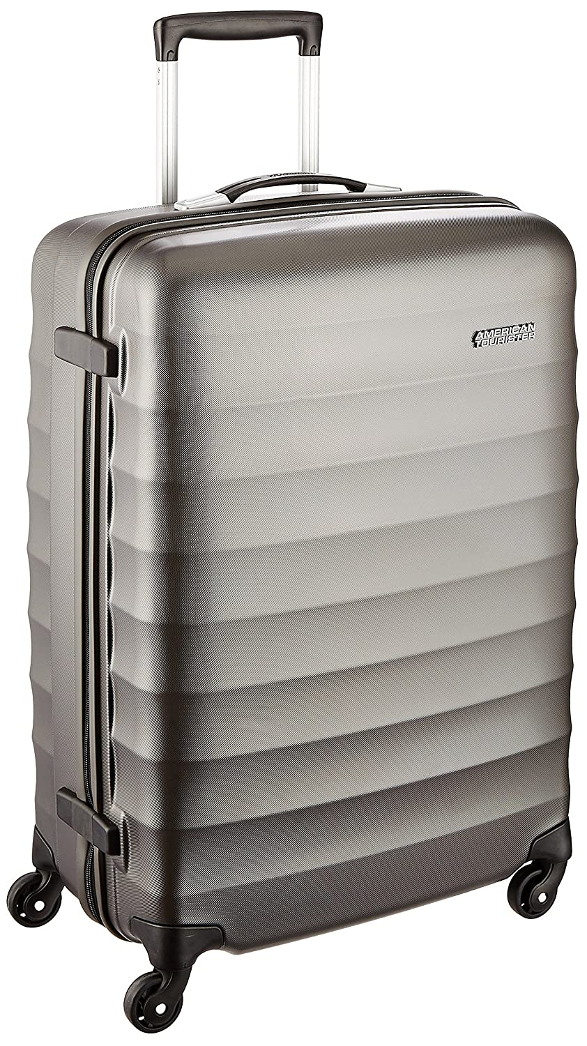 American Tourister Polyester 69 cms Gunmetal Hardsided Suitcase (71W (0) 58 002)