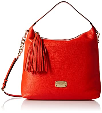 0bcbdeb0c9a7 Michael Kors Bedford Large Mandarin Orange Leather Top Zip Shoulder Bag:  Handbags: Amazon.com