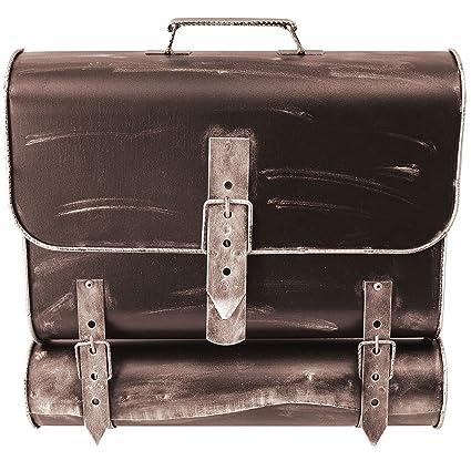 Buz/ón de pared look antiguo bronce con compartimento para peri/ódico
