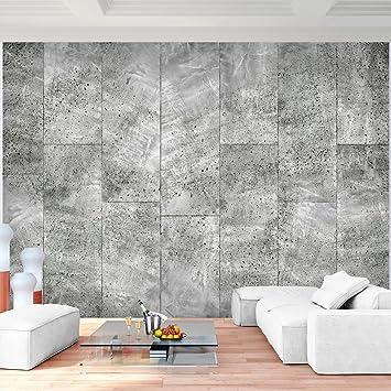 Fototapete Kachel Grau Vlies Wand Tapete Wohnzimmer ...