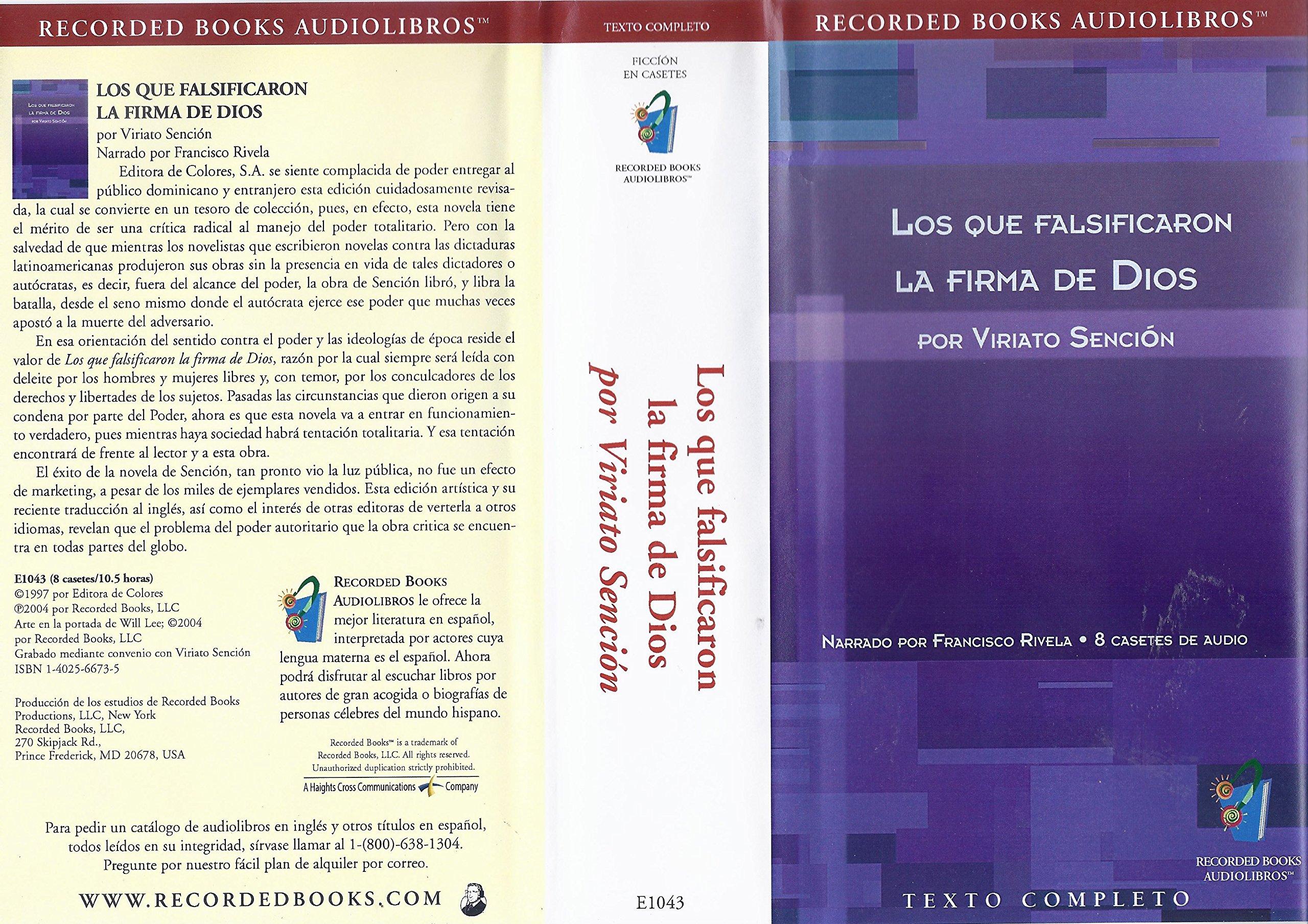 Los Que Falsificaron La Firma De Dios POR Viriato Sencion: VIRIATO SENCION: 9781402566738: Amazon.com: Books
