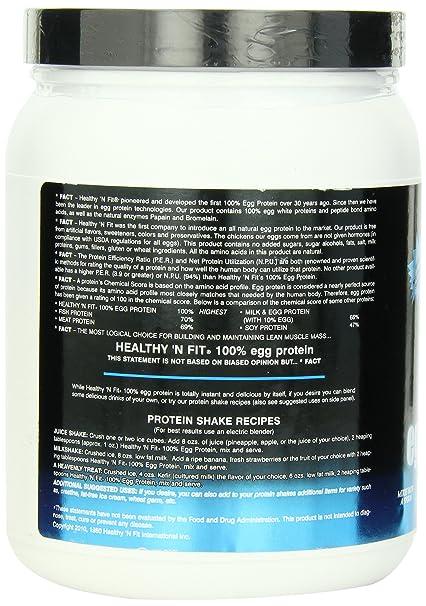 Healthy 'n Fit 100% Egg Protein 12 -Ounce Bottle Vanilla, Tub