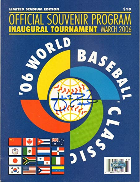 Jake Peavy Signed Official 2006 World Baseball Classic Game Program