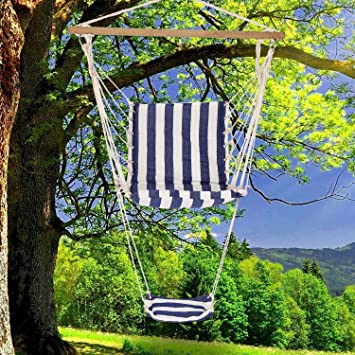 Genial PEATAO Hammock Chair Hanging Rope Swing Chair With Footrest For Indoor  Outdoor Yard Home Patio Deck