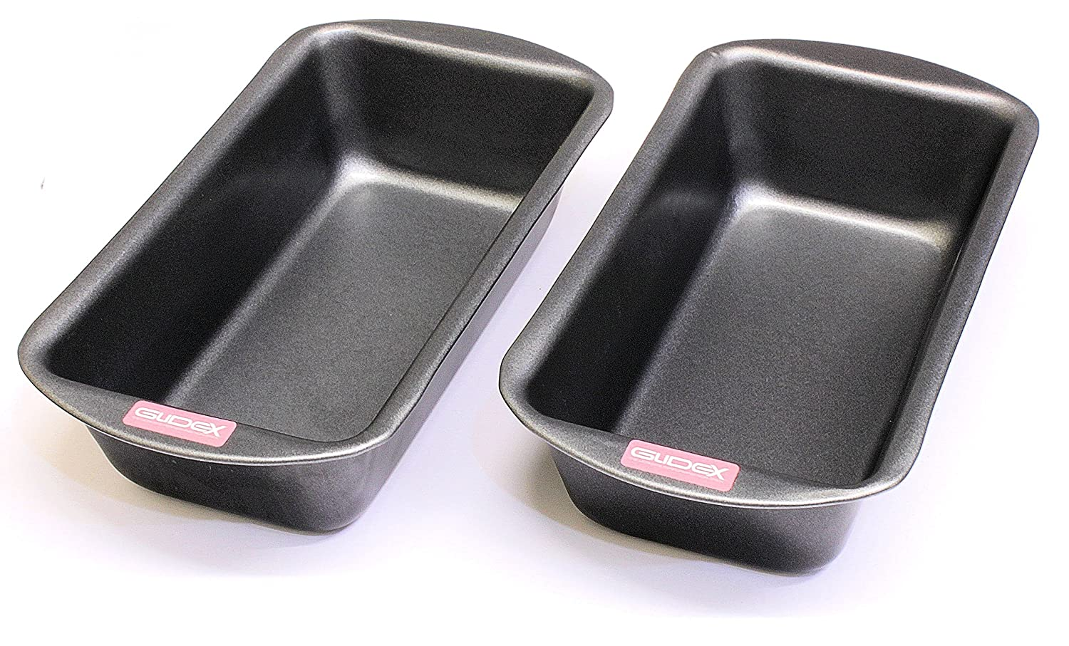 2LB Loaf Pan Twin Pack, 2LB (900g) Capacity, British Made with GlideX Non Stick by Lets Cook Cookware