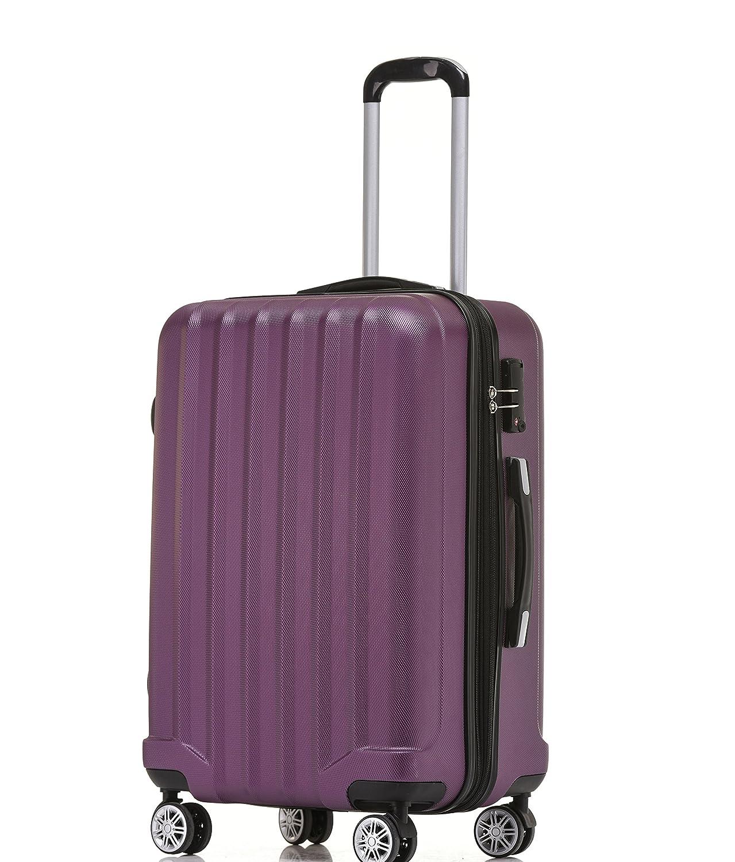 BEIBYE TSA – Candado 2080 Hang epäck Ruedas Gemelas Maleta rígida Juego de L XL de m (Board Case) en 12 Colores, Morado