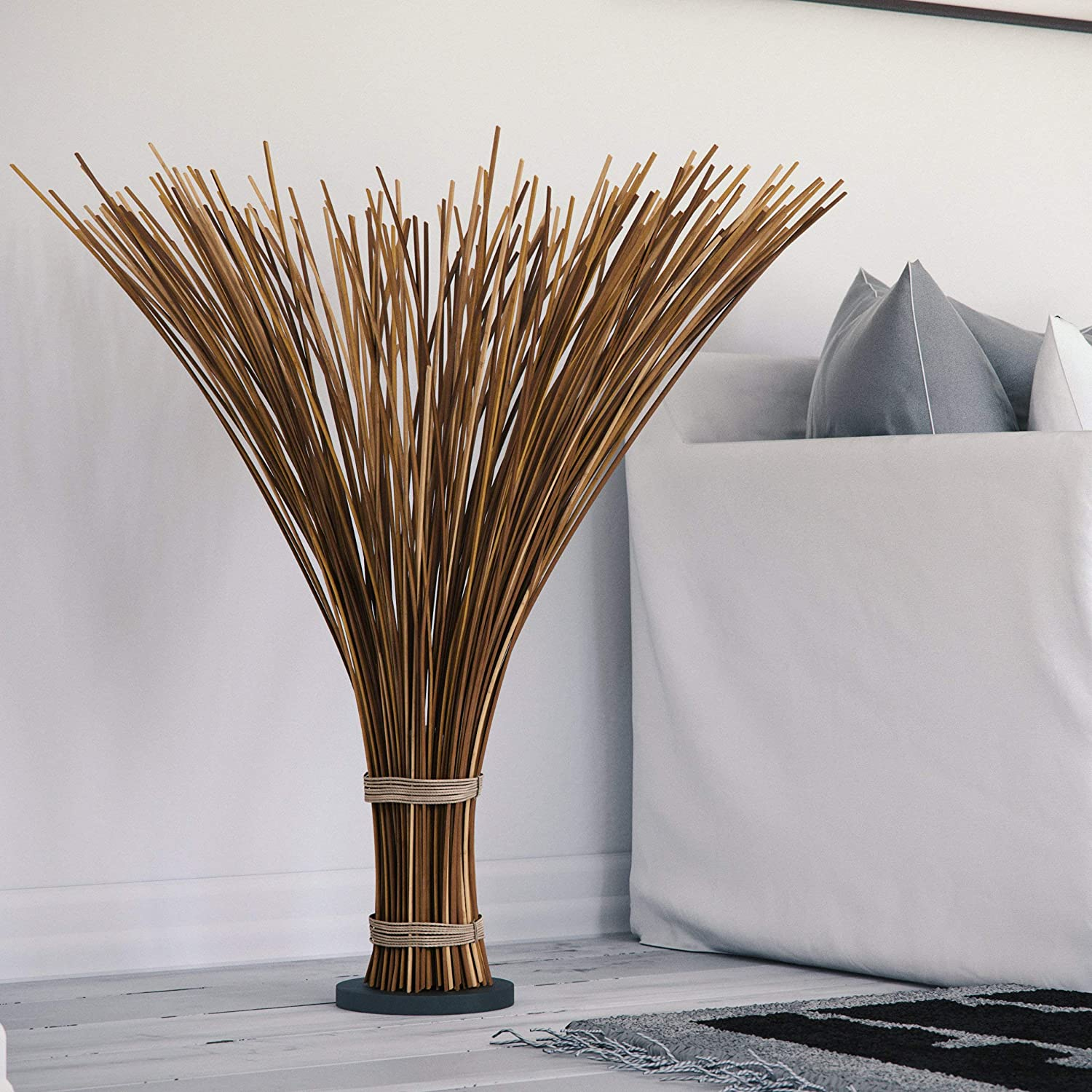 Floor Lamp for Living Room, Bedrooms Design Craft Coastal Natural Reed 46-inch Beach Decor