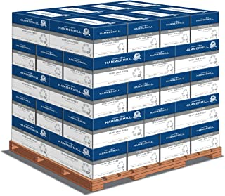 product image for Hammermill Printer Paper, Great White 100% Recycled Paper, 8.5 x 11 - 1 Pallet, 40 Cases (200,000 Sheets) - 92 Bright, Made in the USA