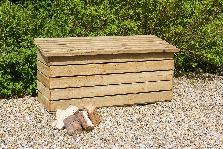 Large Log Store Garden Log Storage in Heavy Duty Pressure Treated Wood