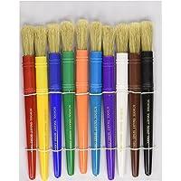 School Smart Juego de pinceles para principiantes, 1/2 x 7-1/4 pulgadas, colores surtidos, juego de 10