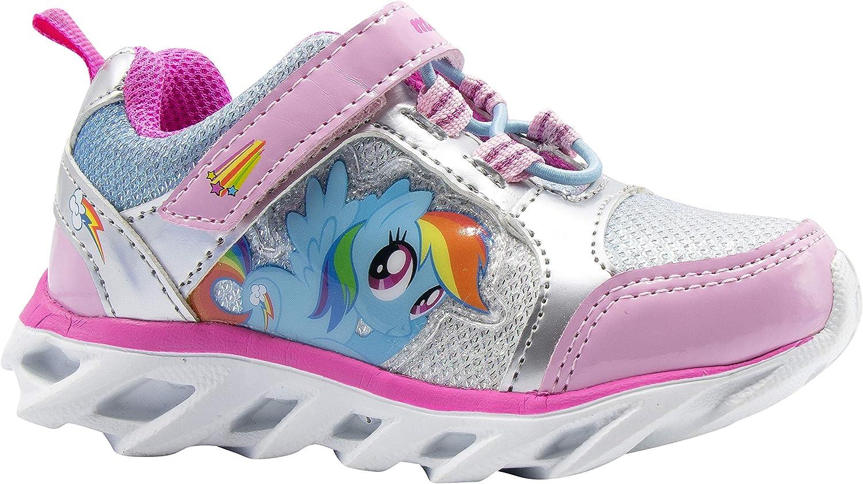 My Little Pony Girl Toddler Light up Rainbow Dash Silver Sneaker