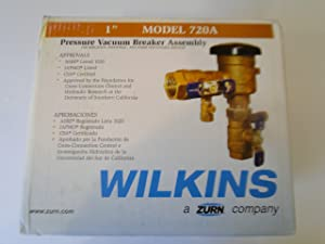 "WILKINS ZURN 1"" MODEL 720A PRESSURE VACUUM BREAKER BACKFLOW PREVENTER IRRIGATION"