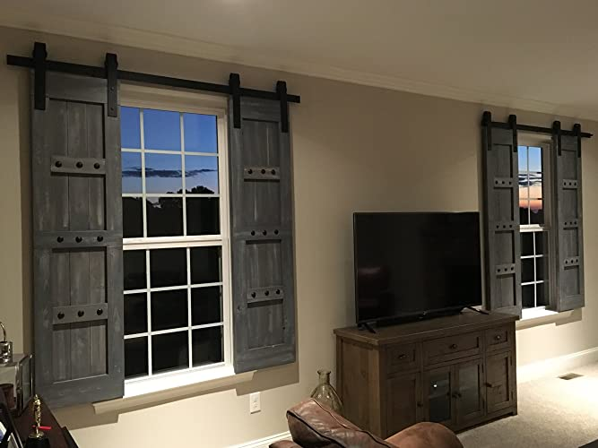 Interior Barn Shutters   Interior Window Barn Door   Sliding Shutters    Barn Door Shutters With