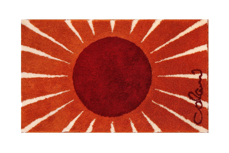 Grund COLANI Exklusiver Designer Badteppich 100% Polyacryl, ultra soft, rutschfest, ÖKO-TEX-zertifiziert, 5 Jahre Garantie, Colani 24, Badematte 70x120 cm, weiss-rot