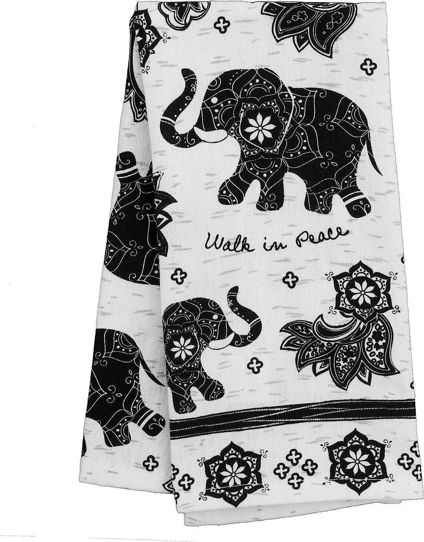 Hummingbird Stephen Joseph KA101934 Karma Gifts Black and White Boho Tea Towels