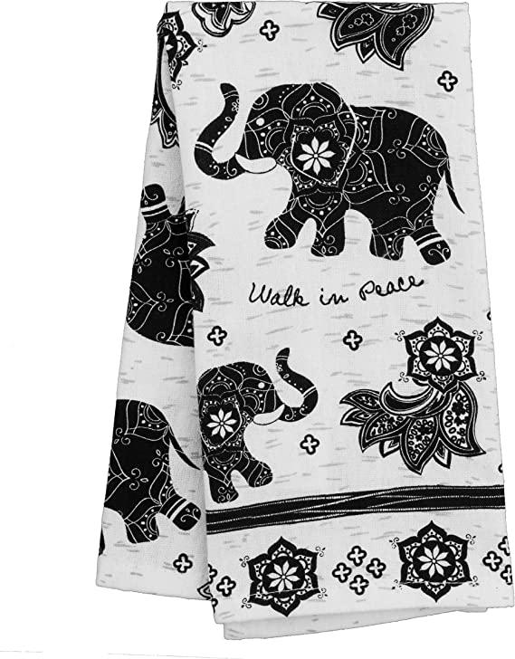 Karma Gifts Black And White Boho Tea Towel