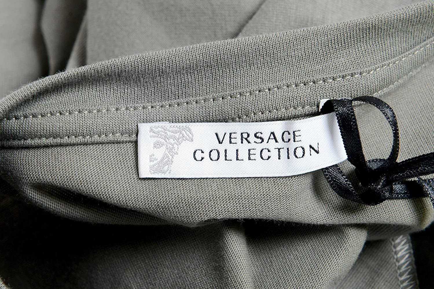 Versace Collection Mens Gray Pocket Crewneck T-Shirt Size US S IT 48