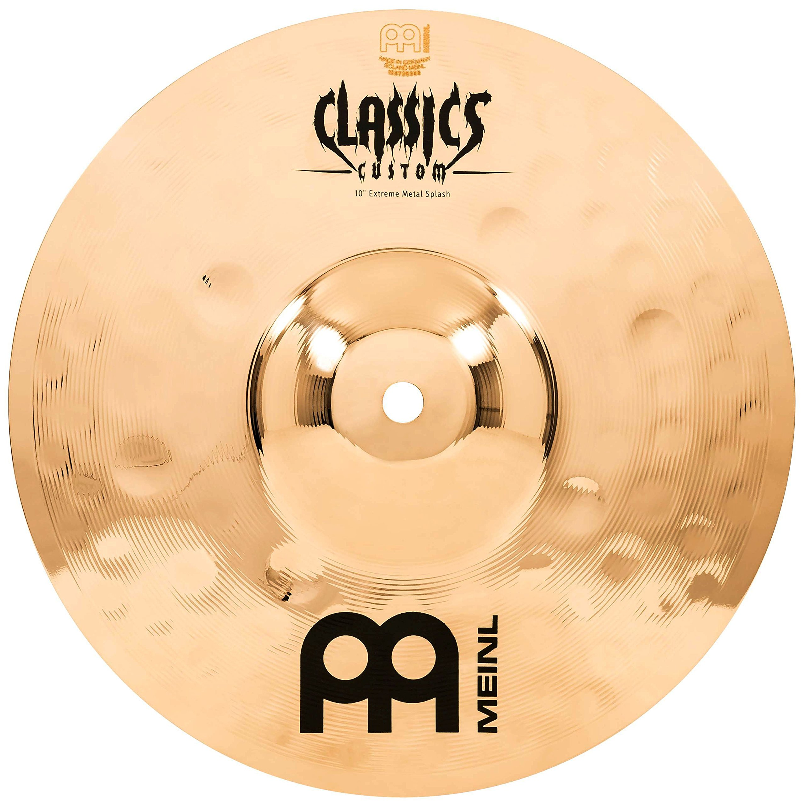 Meinl 10'' Splash Cymbal - Classics Custom Extreme Metal - Made in Germany, 2-YEAR WARRANTY (CC10EMS-B)
