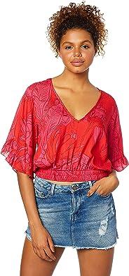 Blusa Comfort, Sommer, Feminino, Rosa/vermelho, M