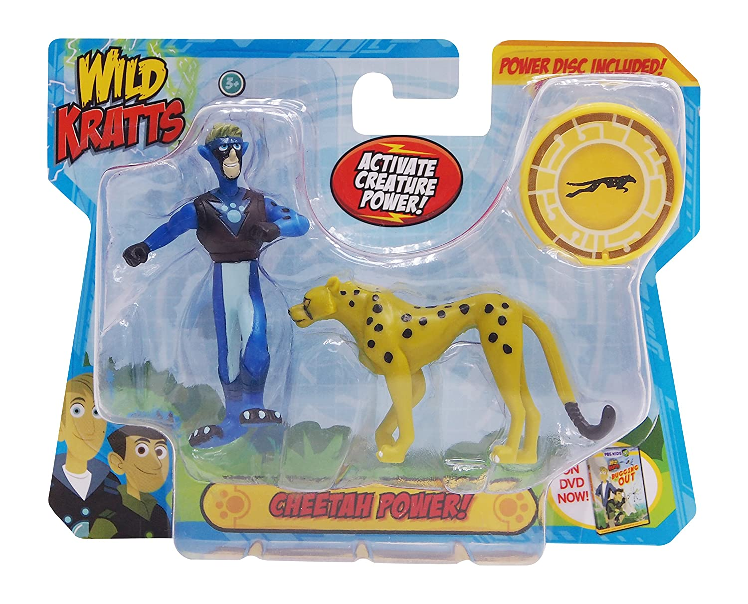 Domestic 2 Pack Creature Power Action Figure Set Cheetah Power Wicked Cool Toys 12005 Wild Kratts Toys