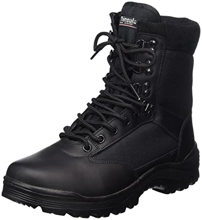 SWAT Mens Black Tactical Patrol Combat Police Security Army Leather Boots   Amazon.co.uk  DIY   Tools 6f3ed8c30