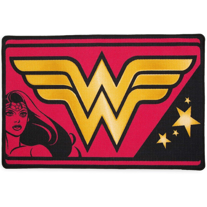 Delta Children Soft Area Rug with Non Slip Backing DC Comics Wonder Woman