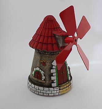 moulin en pierre pour dcoration de jardin peinte a la main produit national