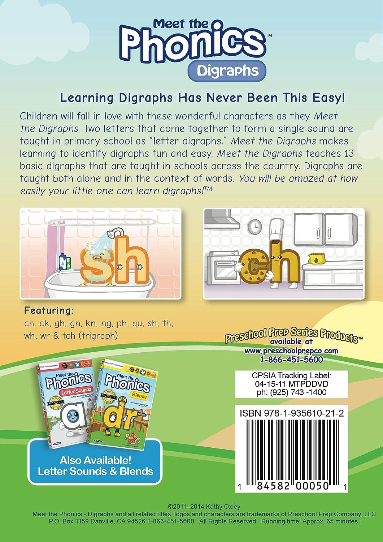 Workbooks kn sound worksheets : Amazon.com: Meet the Phonics - Digraphs DVD: Animation, Kathy ...
