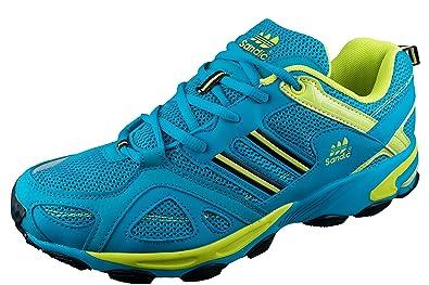 LEKANN Herren Traillaufschuhe   Laufschuhe für Freizeit   Fitness in  Übergröße, Blau Grün, 778acfbc7b