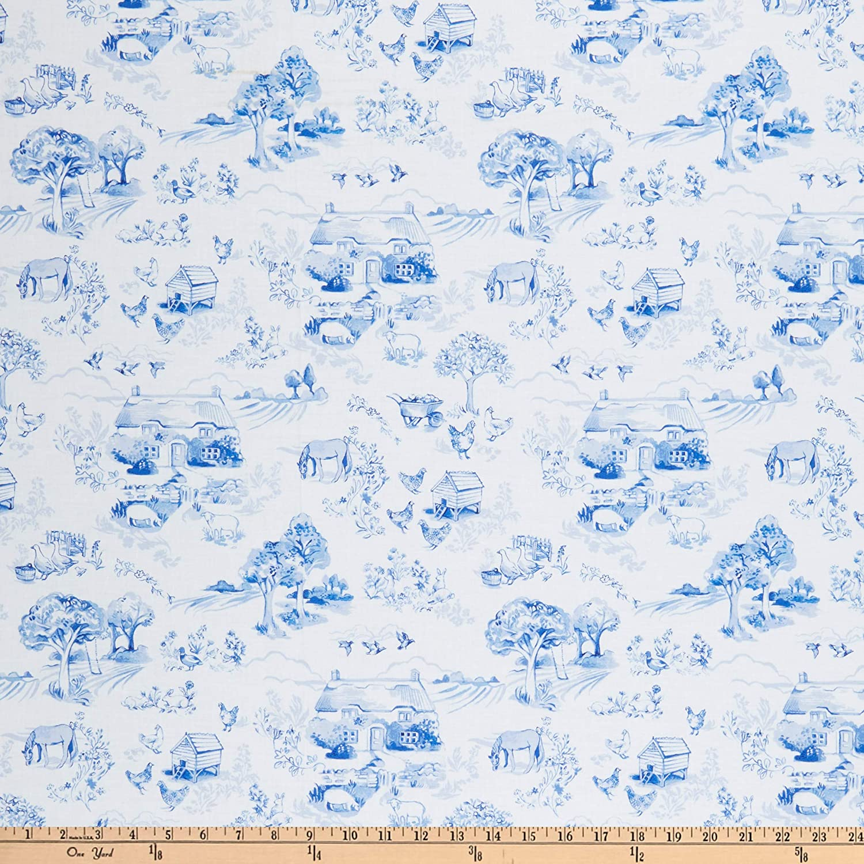 Windham Fabrics English Garden English Garden Toile White Fabric by the Yard