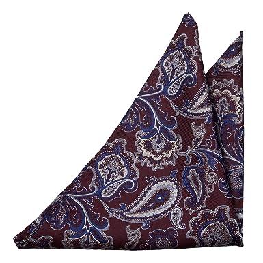 Pocket Square - Solid, blue grey tonal herringbones Notch