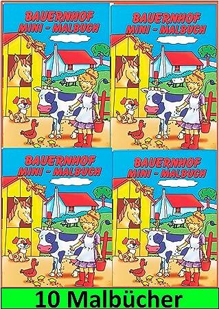 Malbuch mit Stickern Mitgebsel Kindergeburtstag Beschäftigung Kinder Malen