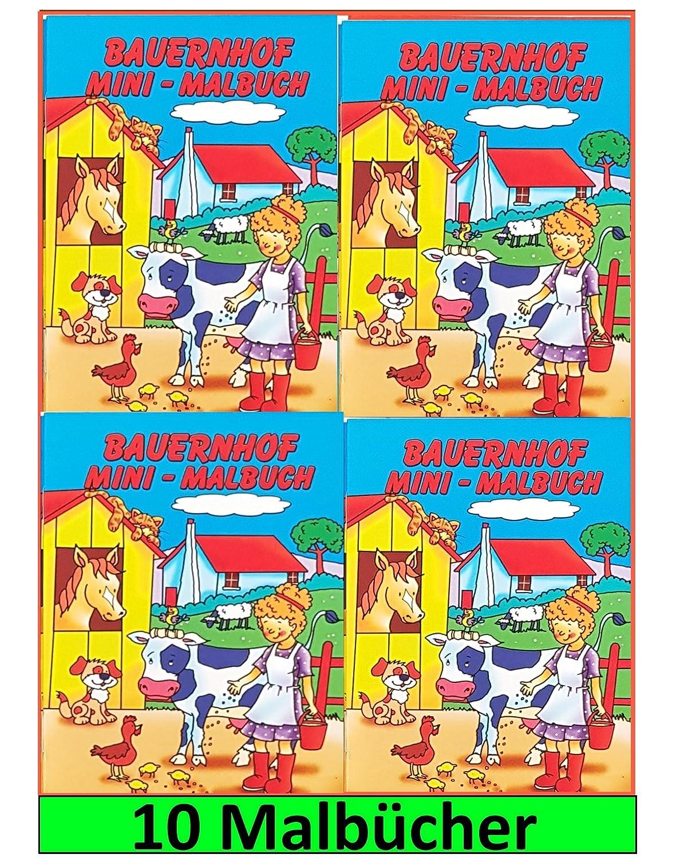 Libetui 10 Malbücher mini Malbuch Größe b6 17, 6 x 12, 5 cm ...