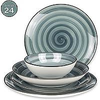 Juego de platos de porcelana de 24 piezas