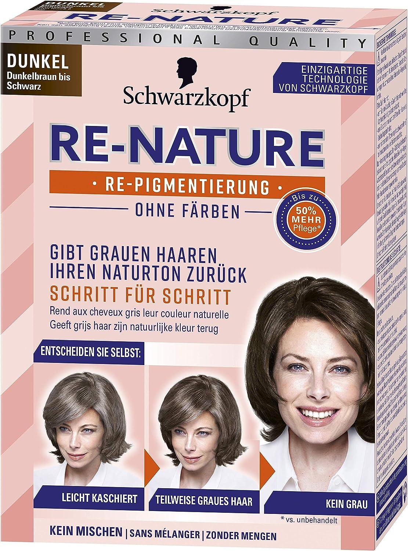 Schwarzkopf Re-Nature - Tinte repigmentación sin tinte, para mujer oscuro, 1 unidad (145 ml)