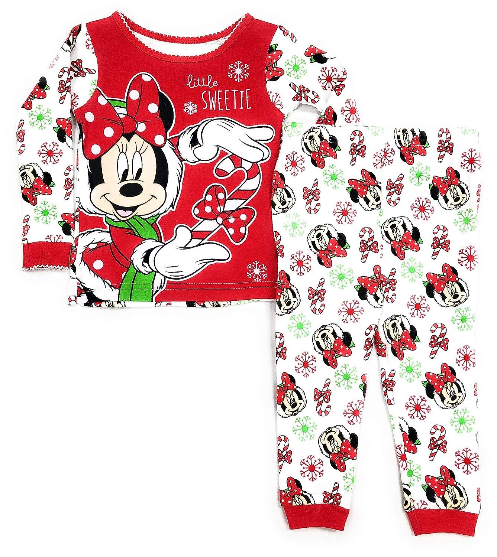 Disney Store Authentic NEW Minnie Mouse Fun Christmas Pajama Set Size 4 Girls