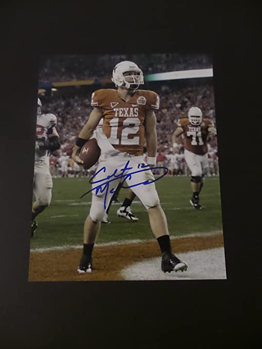 63ad9ab124f Colt McCoy Signed Texas Longhorns Autographed 8x10 Photograph at ...