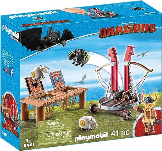 2 x SCHAF WURFSCHAF SCHWARZ WEISS DRAGONS DRACHEN PLAYMOBIL zu Dreamworks MOVIE