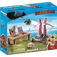 PLAYMOBIL 9461 Spielzeug-Grobian mit Schafschleuder, Unisex-Kinder