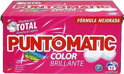 Puntomatic Detergente en Pastilla Ropa Color, 12 Lavados ...