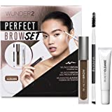 Wunder2 Wunder2 Perfect Brow Set- Wunderbrow Waterproof Eyebrow Gel, Wundercleanse Makeup Remover & Dual Precision Brow Brush