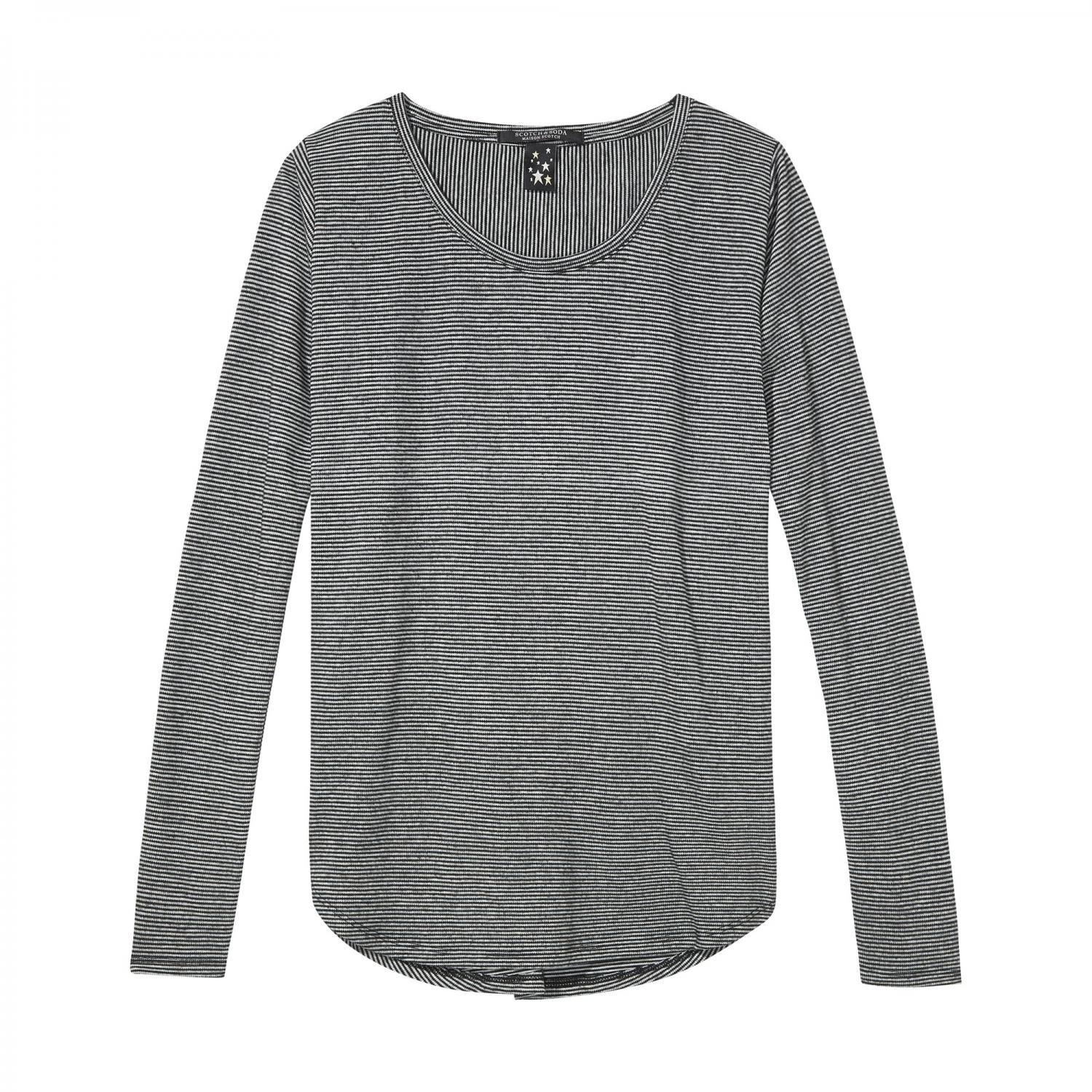 Maison Scotch Damen Langarmshirt Long Sleeve Tee 135453