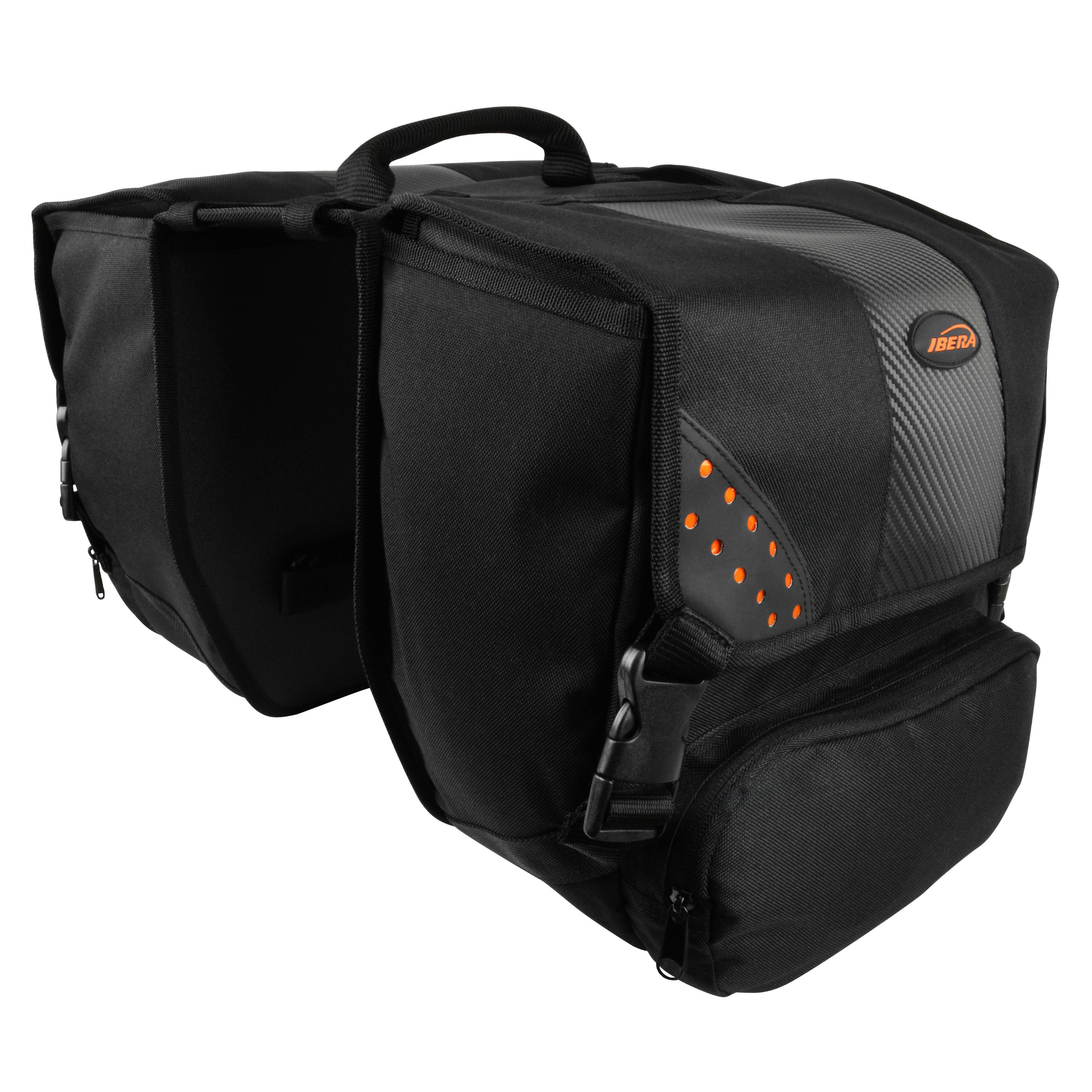 Ibera Bicycle Side-Mounting Pannier Set, Bike Panniers with Multi-Compartments, Slit on Top to Mount on Smaller Racks  by Ibera (Image #4)