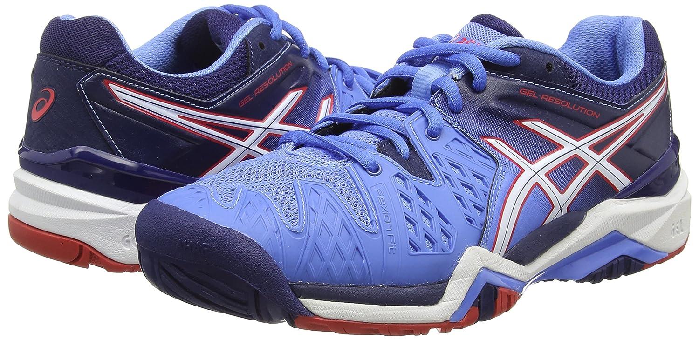 Gel-Resolution 6, Damen Tennisschuhe, Blau (Powder Blue/White/Hibiscus 4701), 39 EU Asics
