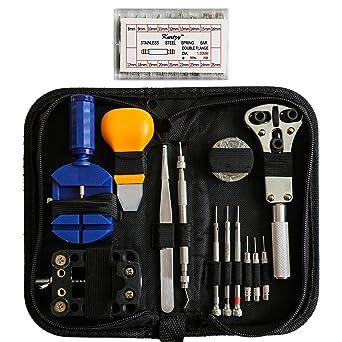 Kit Profesional Reparar Relojes 300 Piezas con Estuche por Kurtzy- Mejor Set Mecánico para Todos los Relojes de Hombre y Mujer- Set Alta Calidad ...