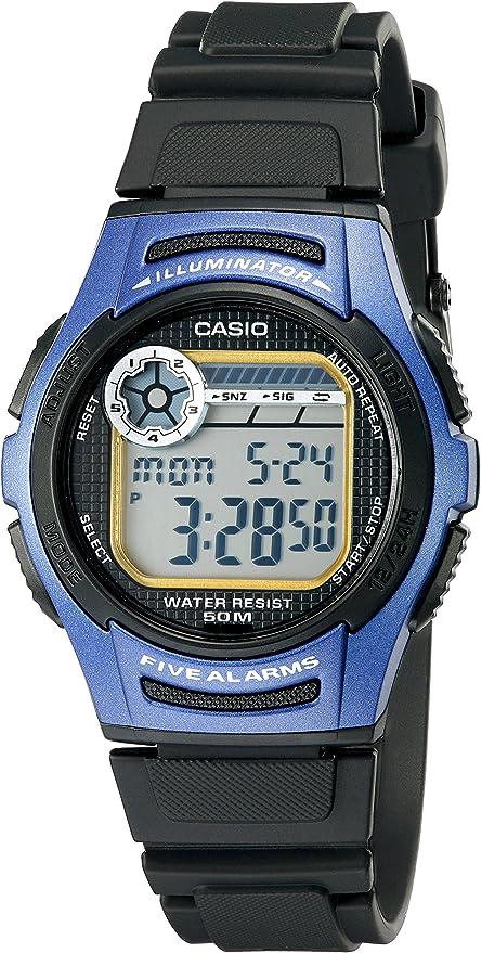 Casio W213-2AVCF - Reloj de Pulsera Hombre, Resina, Color Negro