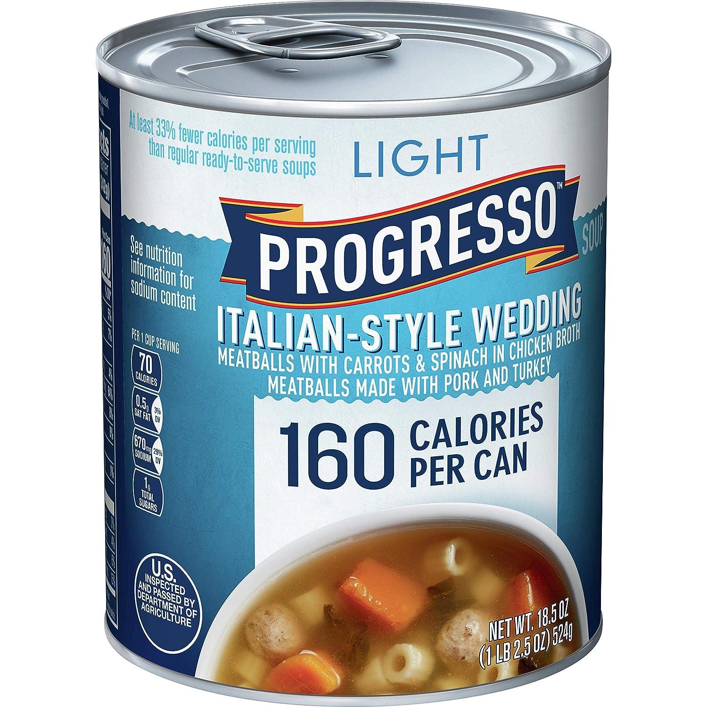 Progresso Light Soup, Italian Style Wedding, 18.5 oz Pack of 12)
