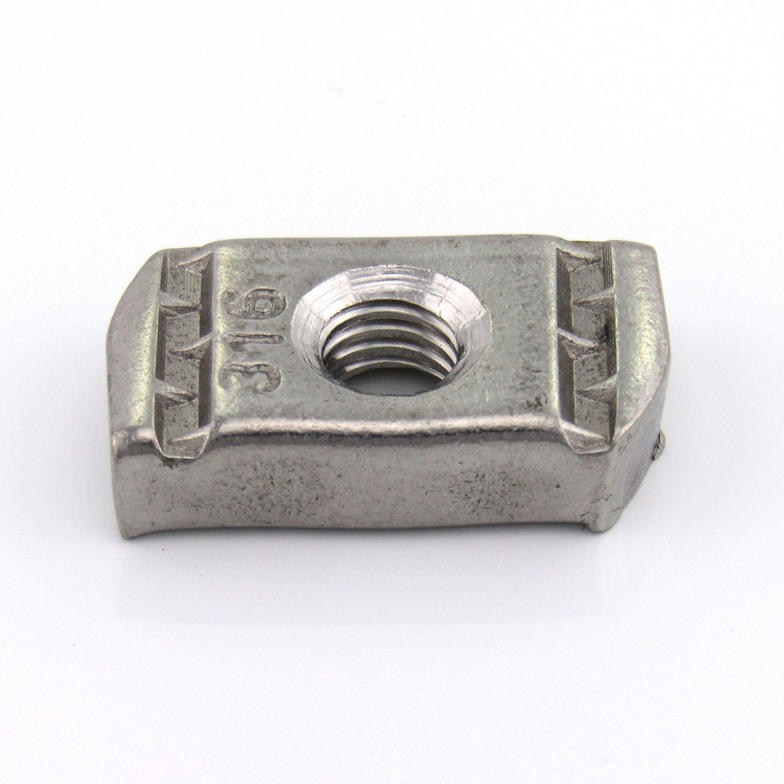 3/8-16X3/8 Thick, No Spring Nut, S/S (100 per Box) by ARWS